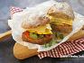 간단하고 맛있는 간식~!! 소시지 오믈렛 아보카도 샌드위치