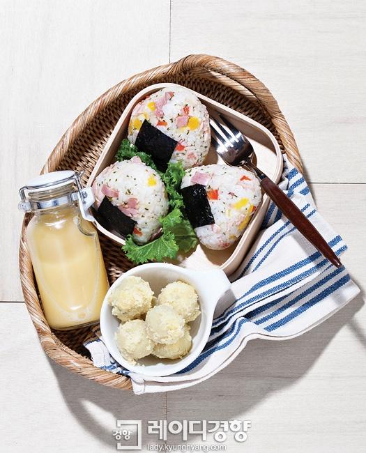 베이컨 삼각 김밥